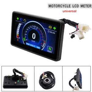 Lcd Motorcycle Speedometer Odometer One Touch Multi Function Switching Meter 12v Ebay