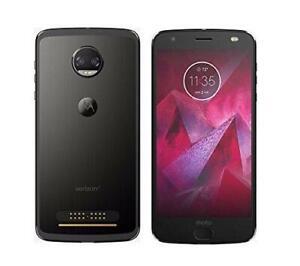Motorola-Moto-Z2-Force-Verizon-64GB-Black-Factory-Unlocked-XT1789-01-Used