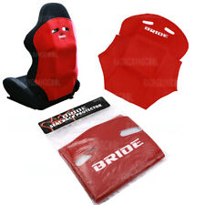 New 1 Pcs Jdm Red Racing Seat Cover Pure Cotton Seat Dust Boot With Bride Logo