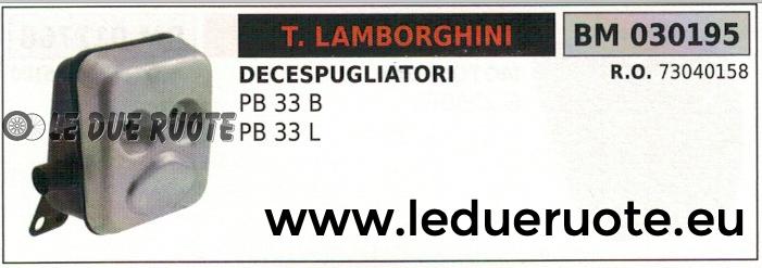 73040158 MARMITTA SCARICO SILENZIATORE DECESPUGLIATORE LAMBORGHINI PB 33B 33L