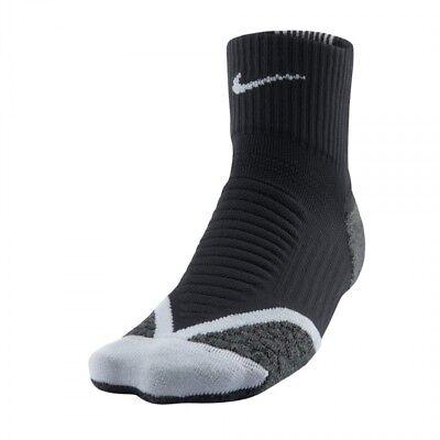 Men's Clothing Trustful Nike Elite Cushion Quarter Socks Uk 13-15 Eu48.5-50.5 Black Grey Rrp£21.95 Reliable Performance