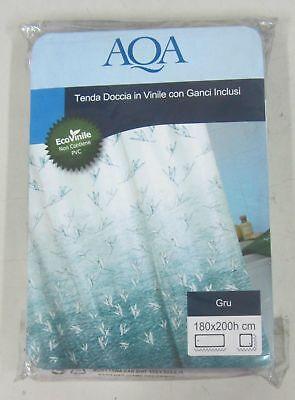 AQA tenda doccia in tessuto con ganci inclusi modello TARTARUGHE varie misure