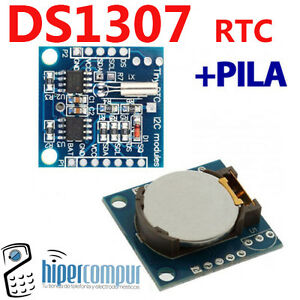 Details about DS1307 RTC module watch with battery I2C Arduino micro pic  battery tiempo real