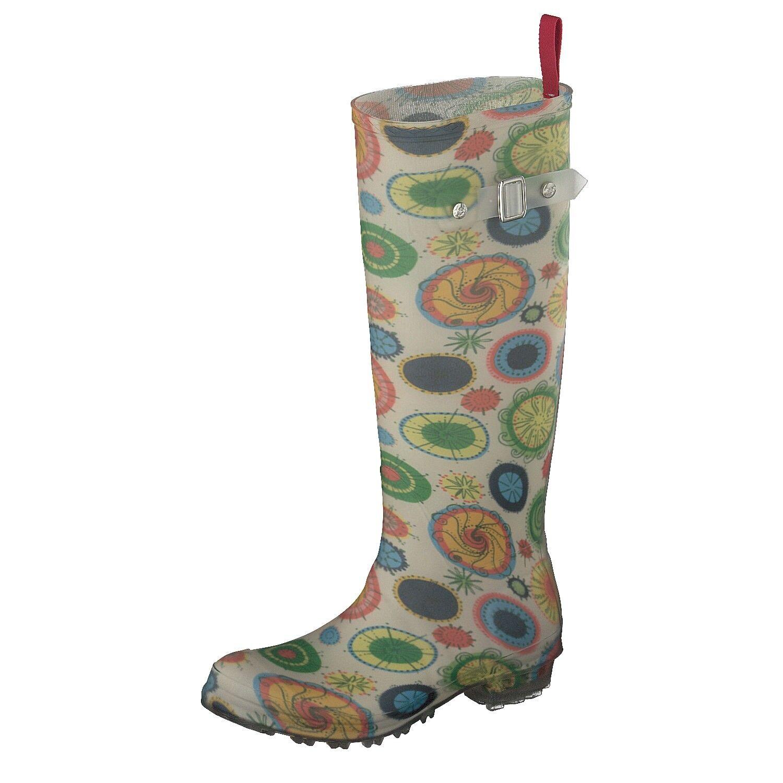 Zapatos especiales con descuento gosch Shoes Sylt Mujer Botas de goma 7108-290-999 CON HEBILLA EN Multi flower
