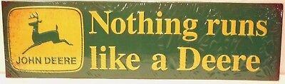 "Licensed John Deere Embossed Metal Sign /""John Deere Road/"" New Collectible Sign"