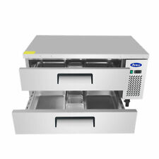 New 48 Chef Base Refrigerated Stainless Steel Cooler Nsf Atosa Mgf8450gr 4707
