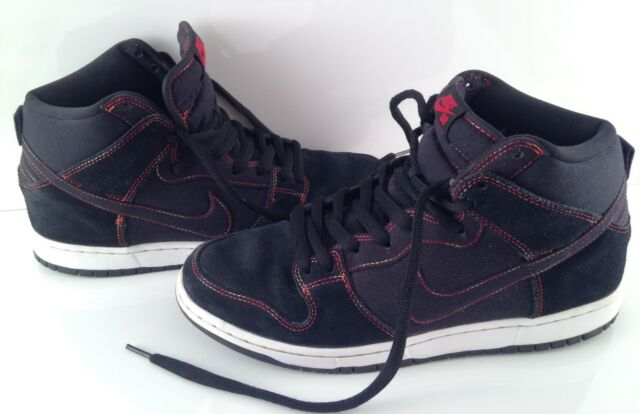 separation shoes e1df5 0ff02 Nike Dunk High Pro SB THERMAL STITCH RAINBOW SZ 10.5 BLACK WHITE 305050-012  2014