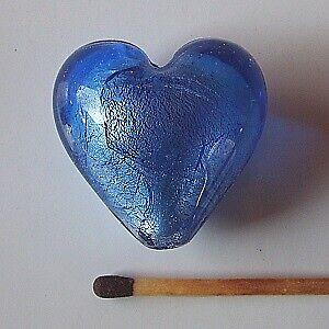 Perler, TILBUD: 5 stk. Glas Hjerter 17x28x28 mm. 5 farver