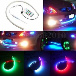 Image Is Loading 60CM RGB LED White Car Headlight Strip Light