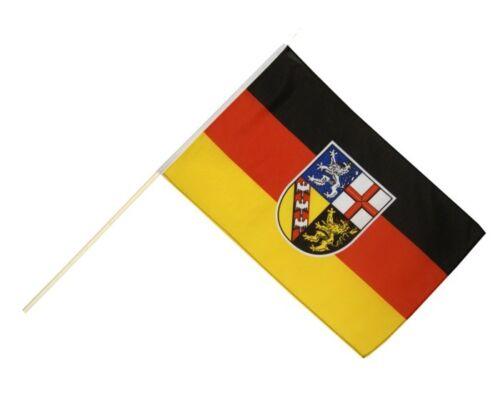 Stockflagge Stockfahne Deutschland Saarland 60x90cm Fahne Flagge mit Stock