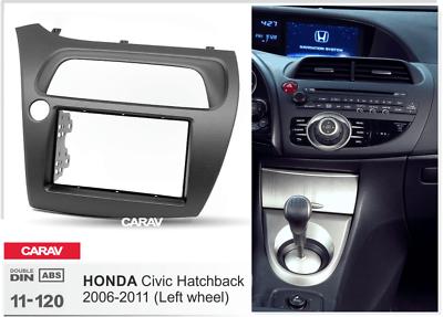 03//2007-08//2010 Doppel 2-DIN Radioblende Blende schwarz FN2 Honda Civic Type R