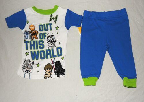 NEW Baby Star Wars 2 pc Pajamas Short Sleeves Pants Sizes 12 /& 18 M Luke Darth