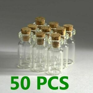 50PCS-2ml-16-x-30mm-Small-Empty-Clear-Glass-Bottles-Vials-Craft-With-Cork
