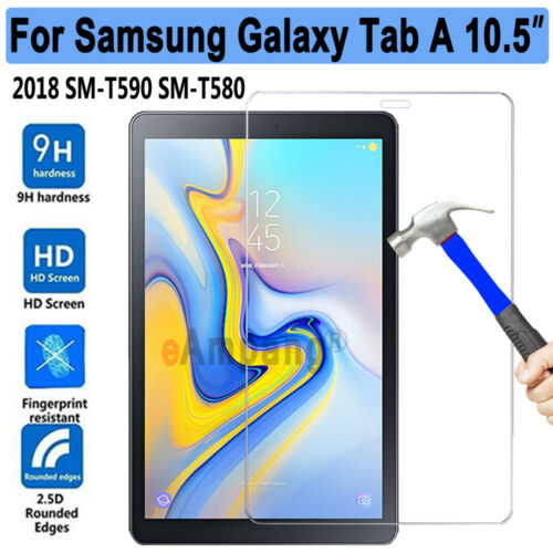 "Tempered Glass Screen Protector for Samsung Galaxy Tab A 10.5/"" 2018 T590 T595"