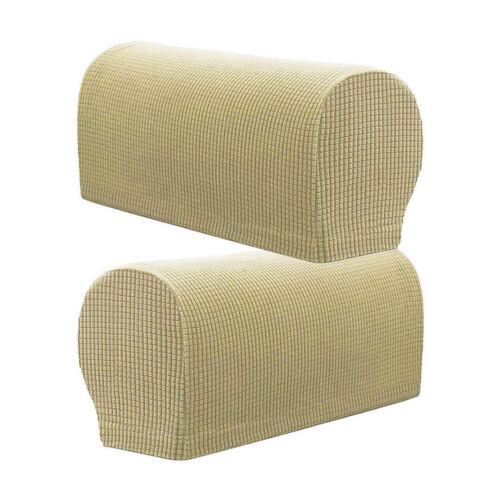 2X Premium Armrest Covers Sofa Couch Chair Arm Protectors Stretchy Set Stretch