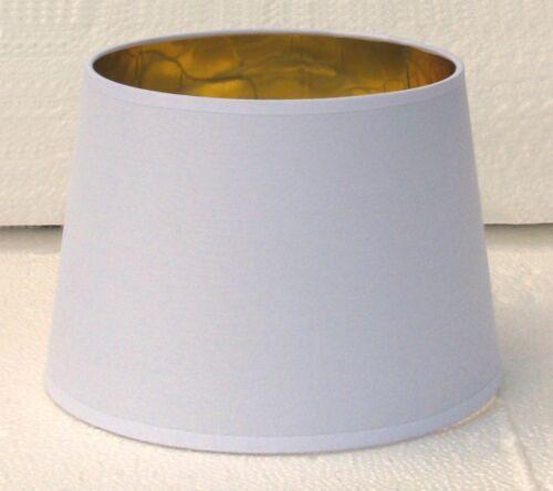 made in Italy Paralume paraluce coprilampada in tessuto bianco interno oro
