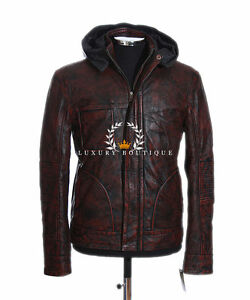 Ghost-Protocol-Mission-Impossible-Antique-Brown-Men-039-s-Hooded-Real-Leather-Jacket