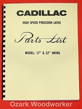 Cadillac 17 Amp 22 Metal Lathe Parts Manual 0112