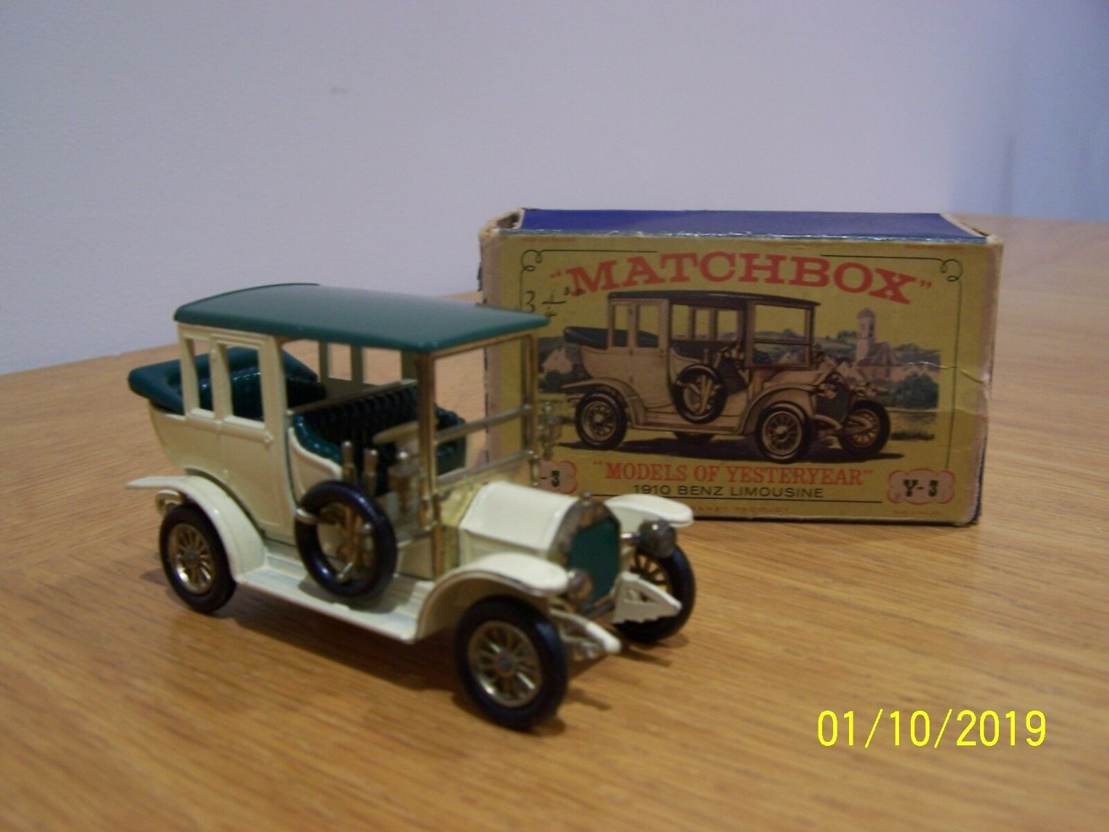 Matchbox Lesney Lesney Lesney Models of Yesteryear 1910 Benz Limousine Y-3 359e2e