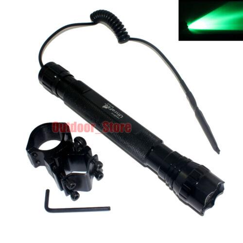 Mount Set UltraFire 501D CREE Green Light LED 1Mode 150LM Tactical Flashlight