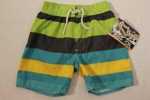dfee4bcfc0 NEW Baby Boys Swim Trunks Bathing Suit Shorts 18 Months Lined Green ...