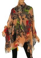 Etro Milano Luxury Paisley Print 100% Wool Scarf Wrap Shawl Made In Italy