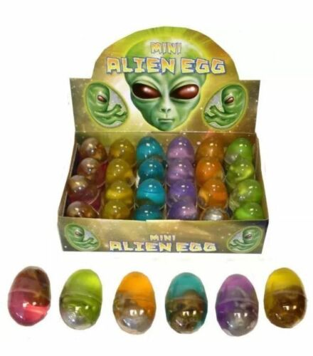 12 x Mini Raum Alien Eier Baby Embryo im Goo Partybeutel Strumpf Spielzeug N14