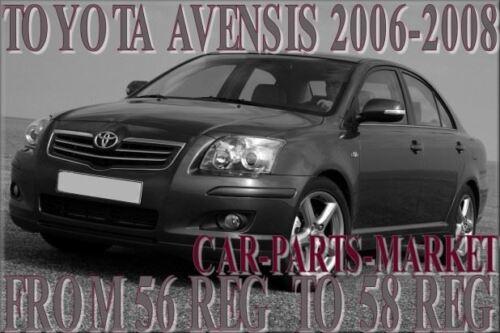 Plaque Pour Toyota Avensis 2006-2008 Côté Droit Chauffé Plat Miroir Verre Conducteur
