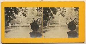 Tivoli Villa Este Roma Italia Foto Stereo Amateur Vintage Analogica 1911
