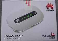 Huawei E5220 mobiler WLAN-Router WiFi Hotspot white HSPA+ HSUPA 3G 2G UMTS 21,6