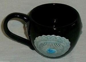 Jack-Graham-Mug-Cup-Concho-W-Turquoise-Color-Black-Vtg-2006