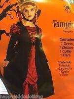 Vampire Fairy Halloween Costume Size 4-6 Girls Dress Vampiress Princess