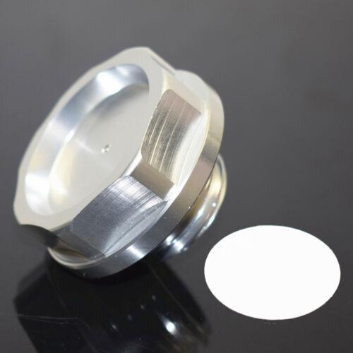Oil Fuel Filler Fill Tank Cap Cover Silver For HONDA ACURA Integra Civic