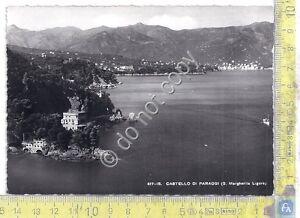 Cartolina-Postcard-Paraggi-Panorama-Castello-anni-039-50
