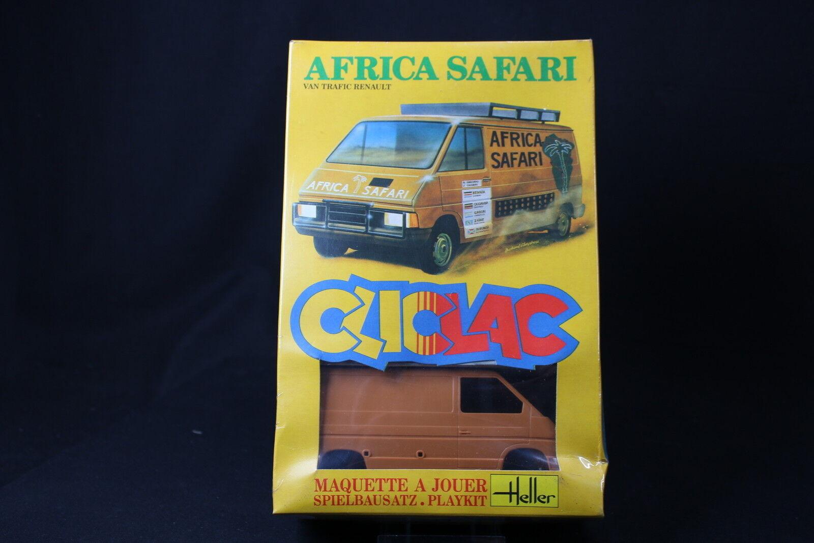 YQ071 HELLER 1 32 maquette cliclac camion 2004 Van Trafic Renault Africa Safari