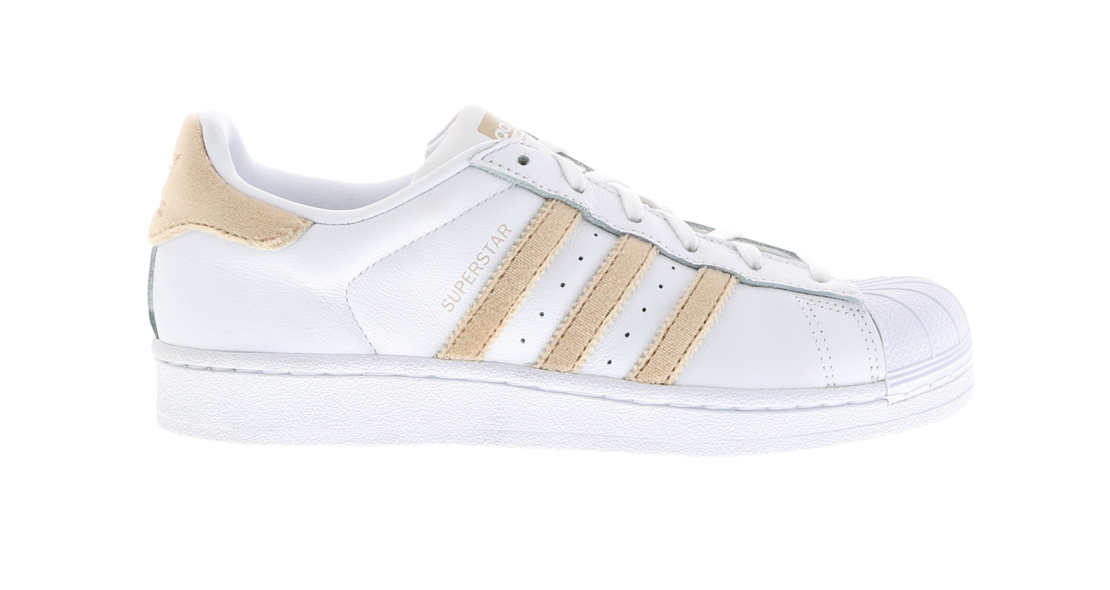 Femme ADIDAS SUPERSTAR W Blanc Leather Casual Trainers BA7493