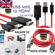 1080P MHL Micro USB to HDMI HDTV ADAPTER CABLE FOR SAMSUNG GALAXY S2 AND NOTE
