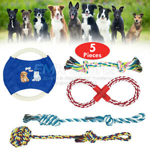 ROPE-TOYS-DOG-PET-DOG-ROPE-TOYS-FOR-AGGRESSIVE-CHEWERS-UK-STOCK-SETS-5-PIECES