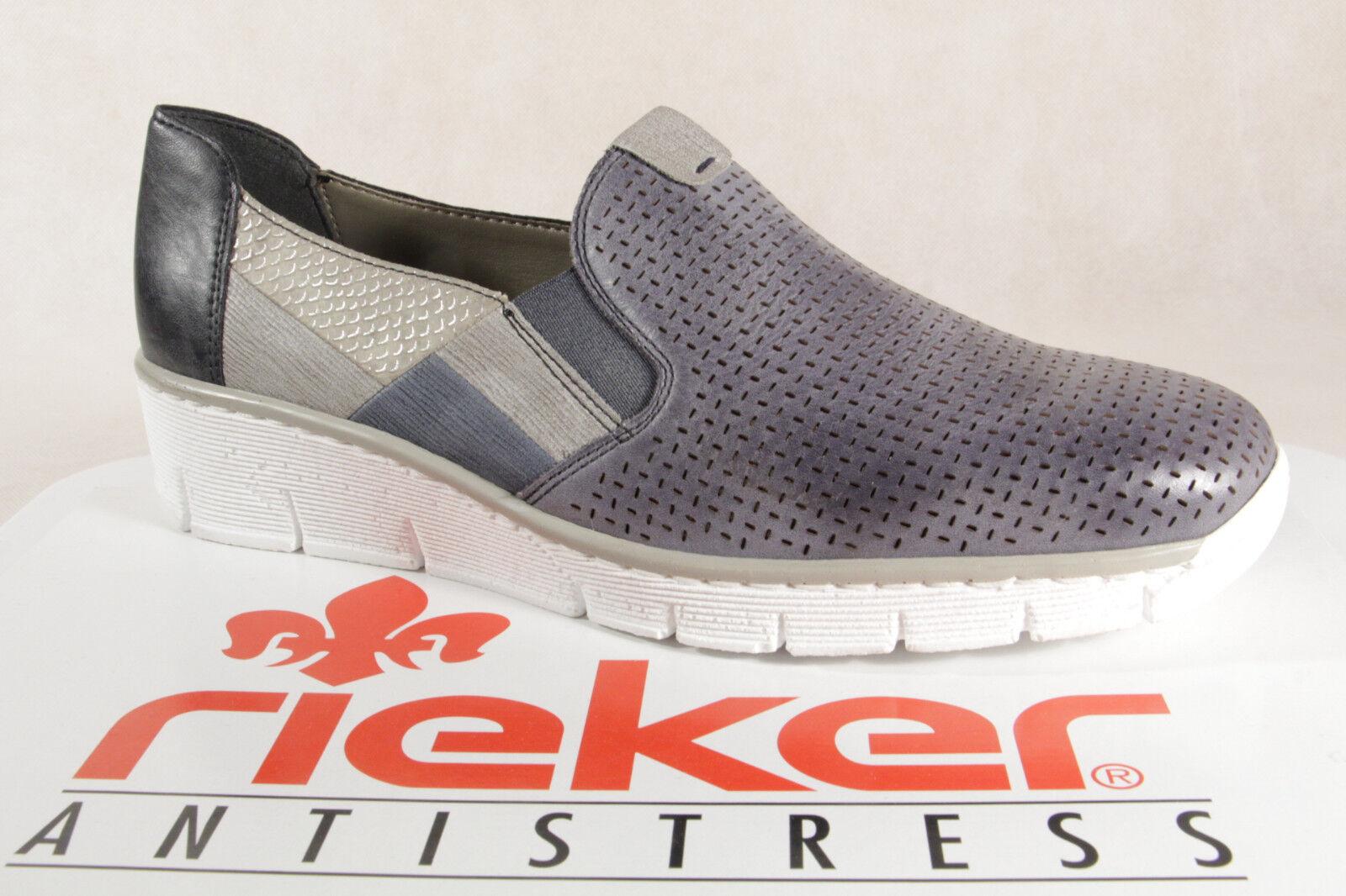 Rieker Scarpe Donne Scarpe Scarpe  Scarpe Scarpe Scarpe Scarpe Ballerina Scarpe Blu, 53757 Nuovo  economico e di alta qualità
