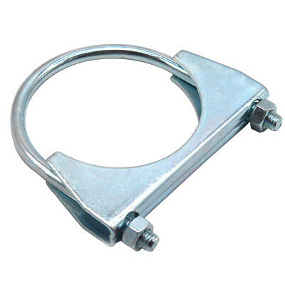 """ABN Saddle Style U-Bolt Exhaust Muffler Clamp 4"""" Inch with M8 Locking Nuts"""