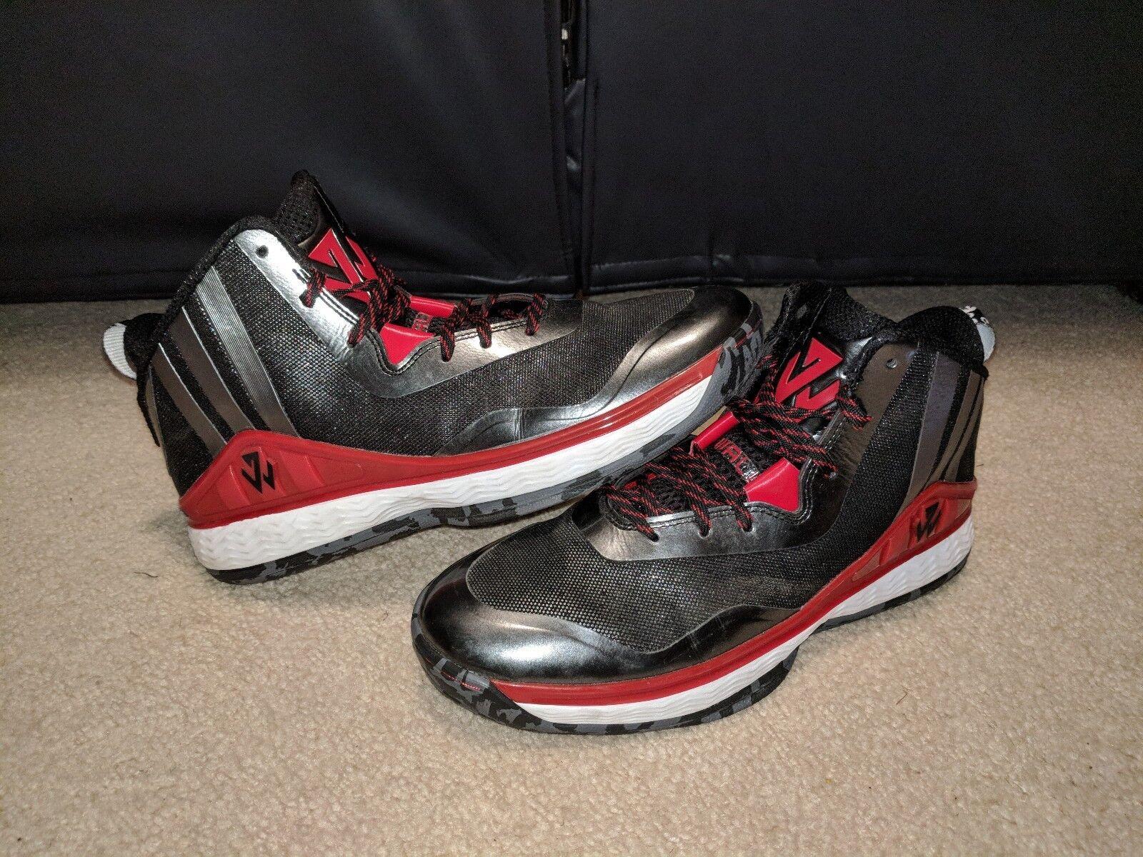 Bei adidas jwall 1 basketball - schwarz schuhe; neu; größe 9, schwarz - und rot e541d3