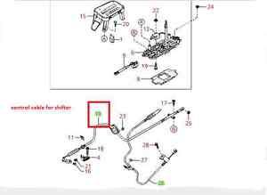 2000-2004 KIA SPECTRA AUTOMATIC TRANS MAIN CONTROL CABLE ...