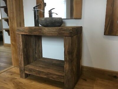 SOLID RECLAIED WELSH OAK WASH STAND