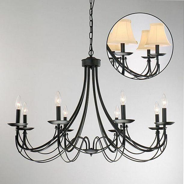 Black Iron Ceiling Light Fixture Rustic