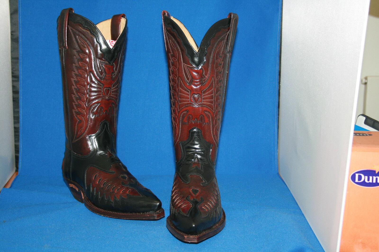 Sendra botas vaqueras botas Western botas nuevo diseño cuero Handmade GR. 37