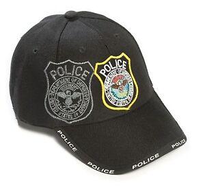 96140c8f42e73a Das Bild wird geladen Basecap-Basball-Cap-Cappy-USA-Police-Polizei-Western-