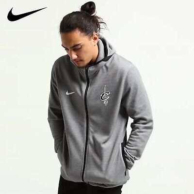 Nike Cleveland Cavaliers Dry Showtime Full Zip Hoodie HeatherBlackWhite Size XL   eBay
