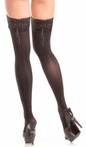 Details about  /Stay Up Thigh Highs Lace Top Lace Up Back Detail Nylons Costume Hosiery BW795