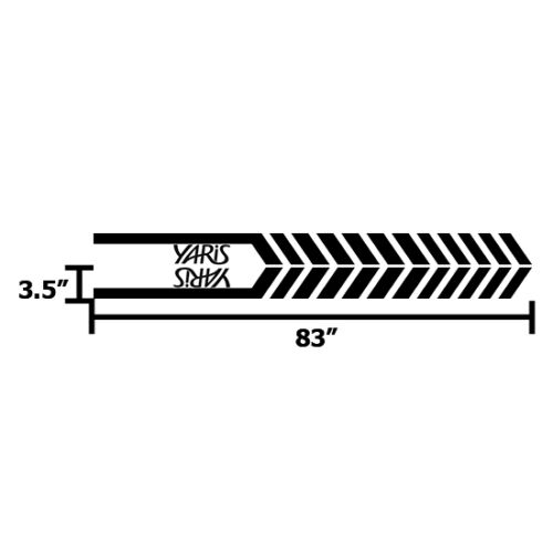 Racing Graphic Stripe Car Vinyl Decal Sticker for TOYOTA Yaris 2012-2018