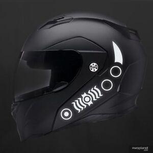 REFLECTIVE HELMET DECALS PIECE SAFETY KIT BIKE MOTORCYCLE - Reflective helmet decals